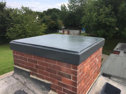 fibreglass chimney cap (After)